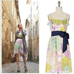 Anthro Aqueous Grove floral slip dress. Size 12.